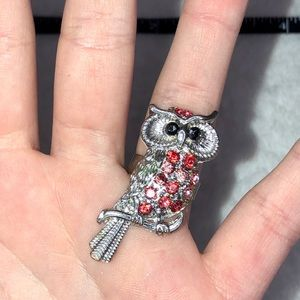 unbranded Jewelry - 💎BOGO FREE! Beautiful red and silver owl ring!🦉